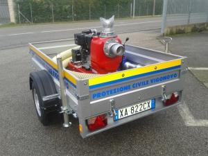 Carrello Motopompa  – Allestimento Protezione Civile Vigonovo PD