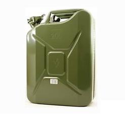 tanica metallica verde militare